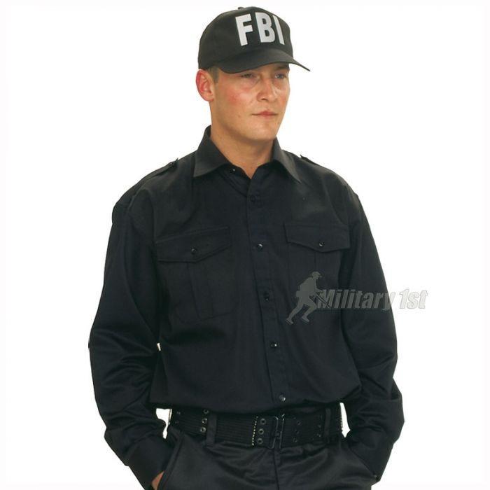 Gorra de béisbol Mil-Tec FBI con banda de plástico en negro