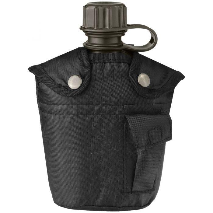 Cantimplora de 1 litro con funda Mil-Tec en negro