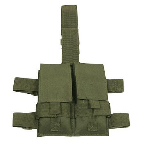 Portacargador doble MFH Tactical para la pierna en verde oliva
