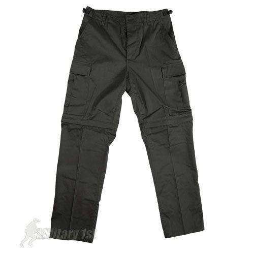 Pantalones de combate Mil-Tec con perneras de quita y pon en negro