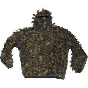 Traje de camuflaje MFH Leaves con hojas en Hunter Brown