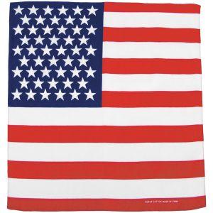 Bandana MFH de algodón con la bandera estadounidense