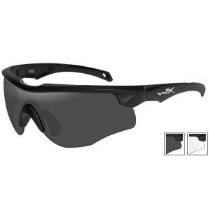 Gafas Wiley X WX Rogue con lentes ahumadas grises + transparentes y montura en negro mate