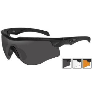 Gafas Wiley X WX Rogue Comm con lentes ahumadas + transparentes + naranja claro y montura en negro mate