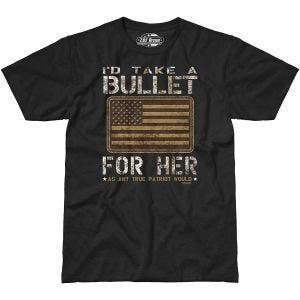 Camiseta 7.62 Design Bullet For Her en negro