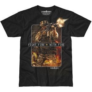 Camiseta 7.62 Design Fight Fire With Fire en negro