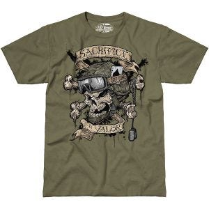 Camiseta 7.62 Design Sacrifice & Valor en Military Green