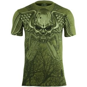 Camiseta 7.62 Design USMC Recon Swift Silent Deadly en Military Green