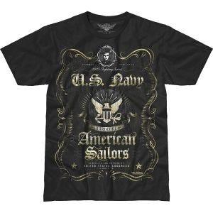 Camiseta 7.62 Design USN Fighting Spirit Battlespace en negro