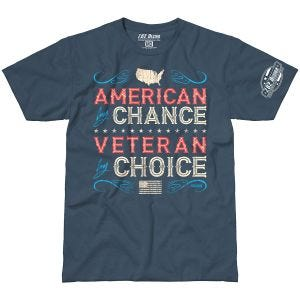 Camiseta 7.62 Design Veteran By Choice American en Indigo