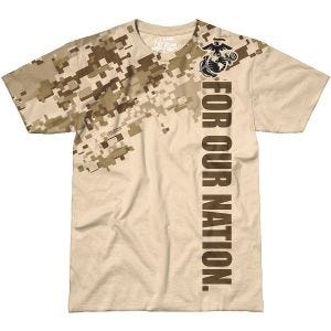 Camiseta 7.62 Design USMC For Our Nation en Sand