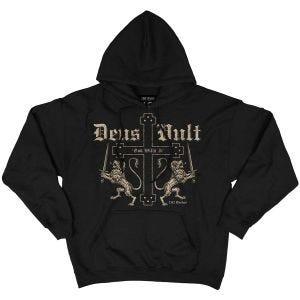 Sudadera negra con capucha, diseño Deus Vult 7.62