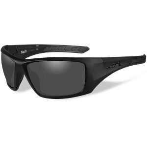 Wiley X WX Nash Glasses - Polarized Smoke Grey Lens / Matte Black Frame