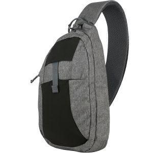 Mochila cruzada para uso diario Helikon jaspeada en gris