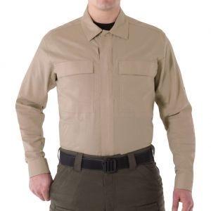 Camiseta de manga larga para hombre BDU First Tactical V2 en caqui