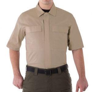 Camiseta de manga corta para hombre BDU First Tactical V2 en caqui
