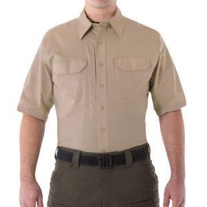 Camiseta táctica de manga corta para hombre First Tactical V2 en caqui