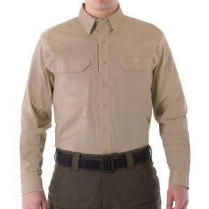 Camiseta táctica de manga larga para hombre First Tactical V2 en caqui