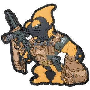 Parche Patchlab Chameleon Firearm Instructor en negro / amarillo