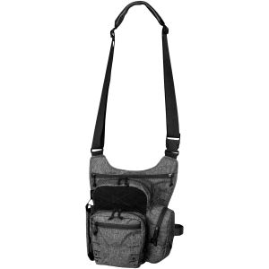 Bolsa bandolera para uso diario Helikon jaspeada en negro-gris