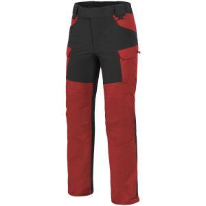 Helikon pantaloni Outback Hybrid in DuraCanvas in Crimson Sky / Black