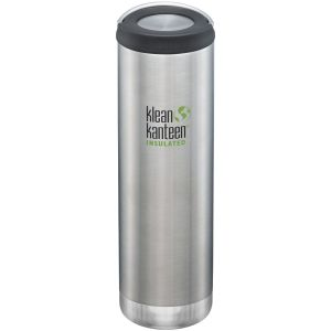 Botella térmica Klean Kanteen TKWide con tapón con agujero de 591ml en Brushed Stainless