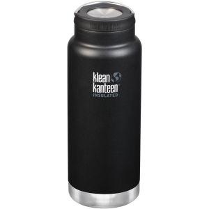 Botella térmica Klean Kanteen TKWide con tapón con agujero de 946ml en Shale Black