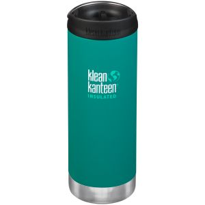Botella térmica Klean Kanteen TKWide con tapa para beber de 473ml en Emerald Bay