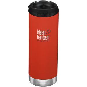 Botella térmica Klean Kanteen TKWide con tapa para beber de 473ml en Post Box Red