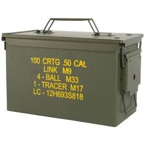 Caja de munición de calibre ,50 Mil-Tec M2A1 en verde oliva
