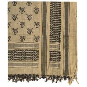 Pañuelo palestino Mil-Tec Skull en Coyote / negro