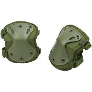 Protectores de codo Mil-Tec en verde oliva