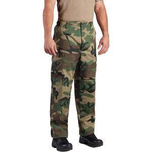 Pantalones de sarga de polialgodón Propper BDU con bragueta abotonada en Woodland