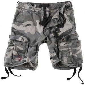 Pantalones cortos Surplus Airborne Vintage lavados a la piedra en Night Camo