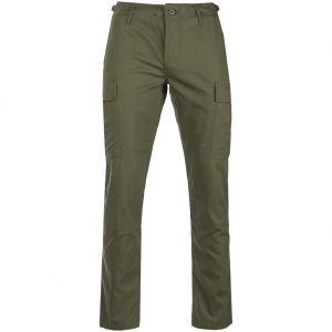 Pantalones de Ripstop Teesar US BDU SlimFit en verde oliva