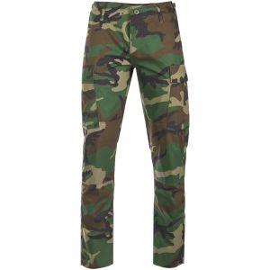 Pantalones de Ripstop Teesar US BDU SlimFit en Woodland