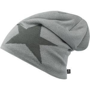 Gorro caído Brandit Star jaspeado en gris plata