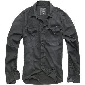 Camisa vaquera Brandit Hardee en negro
