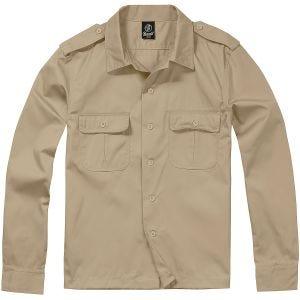 Camisa de manga larga Brandit US en beige