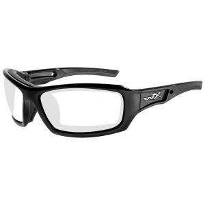 Gafas Wiley X WX Echo con lentes transparentes y montura en negro brillante
