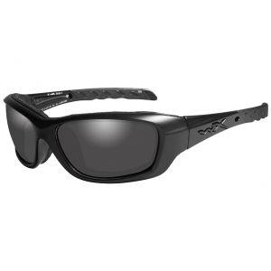 Gafas Wiley X WX Gravity con lentes ahumadas grises y montura Black Ops en negro mate
