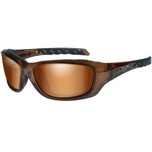 Gafas Wiley X WX Gravity con lentes en Bronze Flash y montura en Brown Crystal