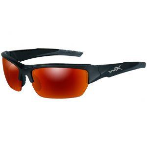 Gafas Wiley X WX Valor con lentes polarizadas, ahumadas y espejadas en Crimson y montura en dos tonos en negro