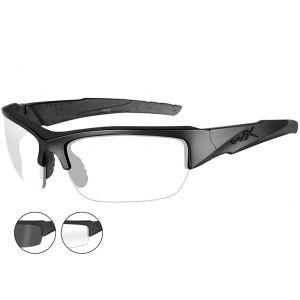 Gafas Wiley X WX Valor con lentes ahumadas grises + transparentes y montura en negro mate