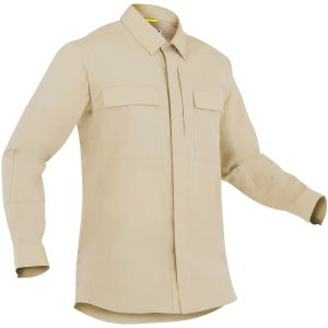 Camiseta de manga larga para hombre BDU First Tactical Specialist en caqui