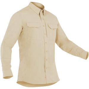 Camiseta táctica de manga larga para hombre First Tactical Specialist en caqui