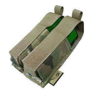 Portacargador doble de cartuchos Flyye 9mm Pistol Ver. HP con sistema MOLLE en MultiCam