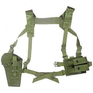 Funda de pistola para hombro Flyye con panel MOLLE en Olive Drab