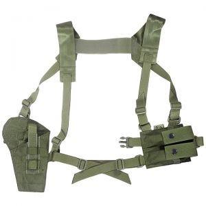 Funda de pistola para hombro Flyye con panel MOLLE en Ranger Green