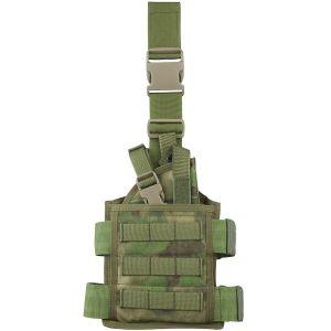 Funda de pistola para pierna Flyye SpecOps Seals con sistema MOLLE en A-TACS FG